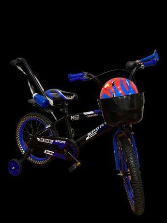 Rowerek Rower dziecięcy 16 BMX BLACK KASK PROWADNIK Kółka Wysyłka