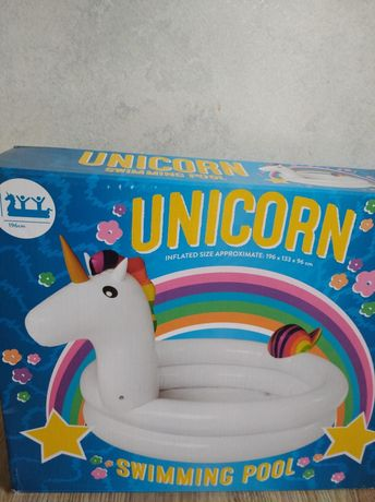 Dmuchany basen jednorożec unicorn 2 pierścienie 24m+ Nowy!