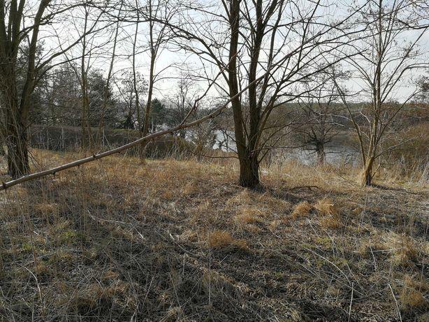 Działka nad jeziorem -cisza spokój pola  strumyk -blisko Gniezna