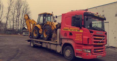 Pomoc Drogowa Autolaweta transport maszyn rolniczych,budowlanych do30t