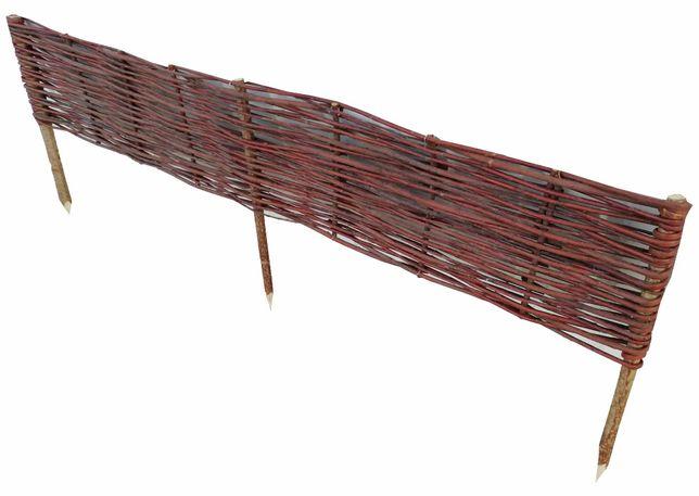 Płotek wiklinowy, palisada, obrzeże, 100/20 (wiklina niekorowana)