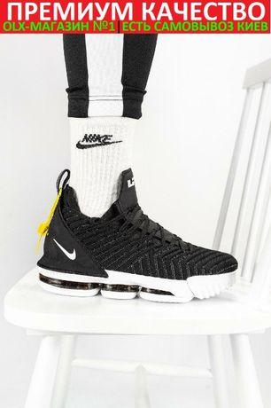 """Баскетбольные кроссовки Nike LeBron 16 """"Black White"""""""