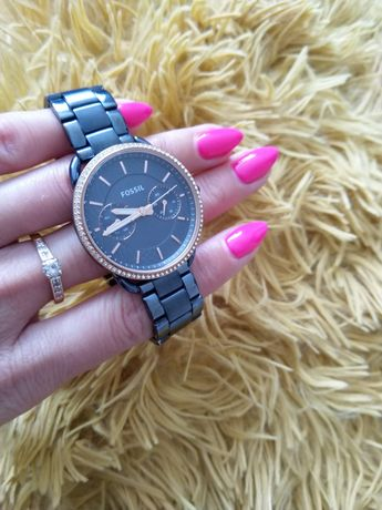 Fossil Tailor zegarek damski granatowy