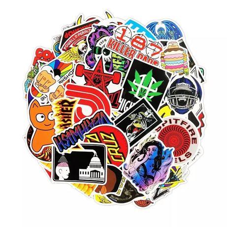 100 Autocolantes / stickers Skateboard