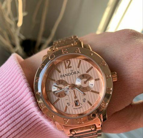Zegarek różowy Pandora wzór bransoleta