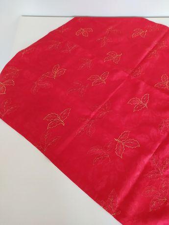 OBRUS swerweta świąteczny czerwono-złoty 85x85 cm