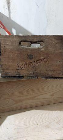 Grade madeira antiga Schweppes