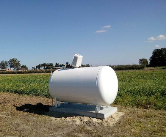 Zbiornik na gaz płynny propan 2700 ,4850 l , montaż, zbiornik gazowy