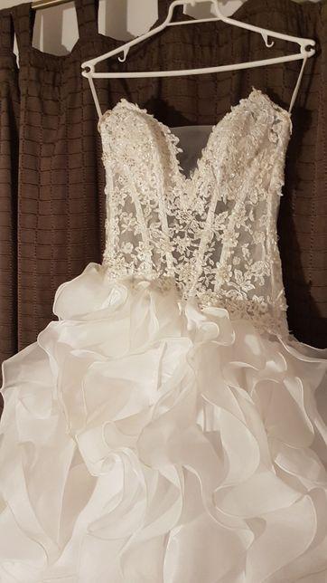 Suknia ślubna welon buty Angel