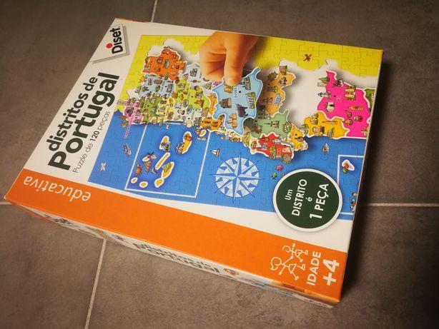 Puzzle distritos Portugal