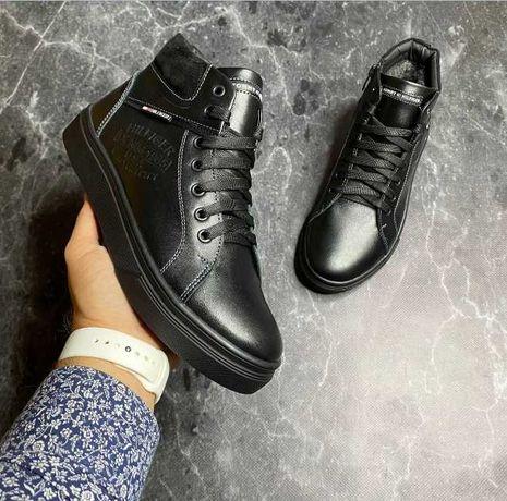 Зимние ботинки со змейкой  Tommy hilfiger