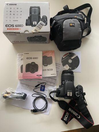 Aparat Canon EOS 600D kit 18-55 + dodatki