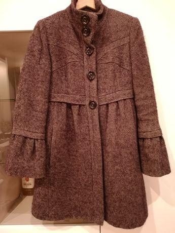 Ocieplany wełniany płaszcz MANGO 38 M