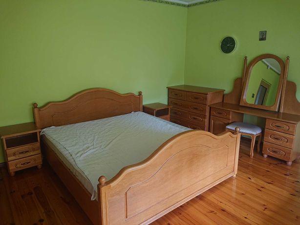 Piękna dębowa, kompletna sypialnia,  Dobrodzień stan BDB. Okazja!!