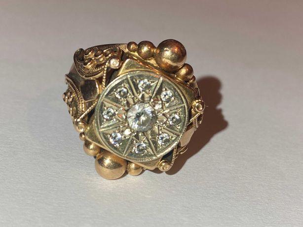 Золотое Кольцо Печатка Перстень 585 пробы 12.8 г. Ручная Работа