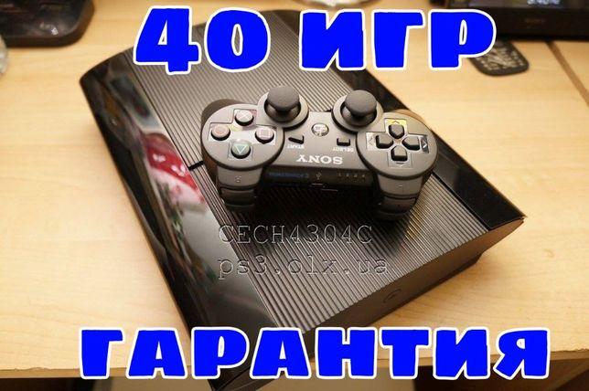 ps3 super slim 500 гб CECH4304C с играми гарантией slim 320