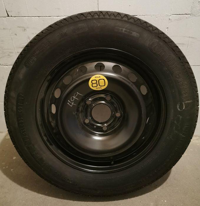 koło dojazdowe felga ET43 7Jx17H2 opona Continental 145/90 R16 Kruszewnia - image 1