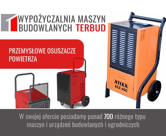 Osuszacz powietrza przemysłowy. Nagrzewnice, wentylatory. Pompy i in.