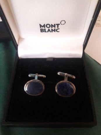 Запонки Montblanc Glass Inlay оригинальные дорогие винтаж серебро и др