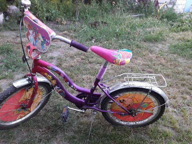 Велосипед со снятым колесом