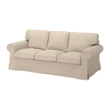 704.723.84 IKEA EKTORP pokrowiec sofy 3 os. HALLARP beżowy
