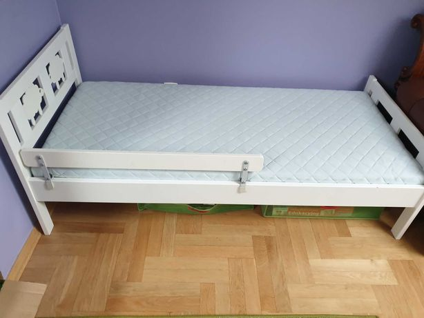 Łóżko, łóżka dziecięce Ikea Kritter, barierka, 160×70, materac gratis