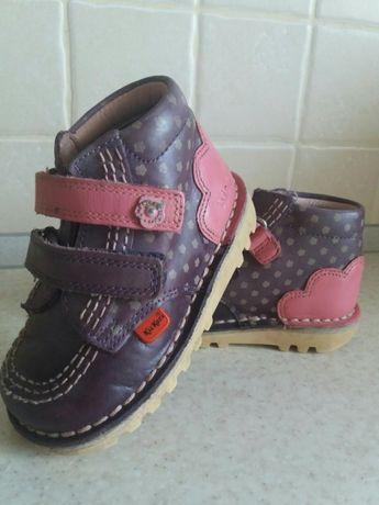 Взуття (обувь)дитяче шкіряне KicKers,23 роз
