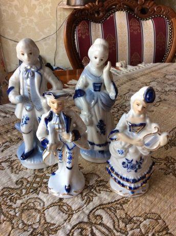 4 szt figurka z porcelany porcelanowa figurka