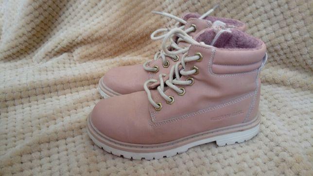 Kozaki buciki wiosenne jasno-różowe dla dziewczynki 28