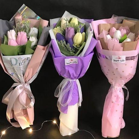 Квіти з мила.Букети з мила.Подарунок на День народження. Мило .Мыло