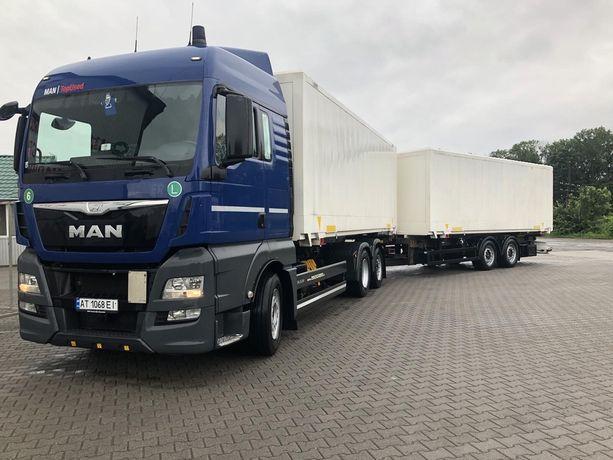 MAN TGX 26.440 BDF контейнеровоз 2015 рік+ причіп тандем