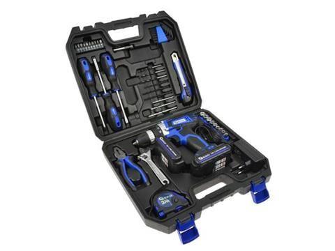 Wkrętarka akumulatorowa Li-on 18V+ narzędzia 46el. 2 aku GWA