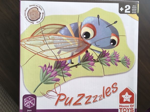 House of toys puzzles insects, puzzle drewniane robaczki