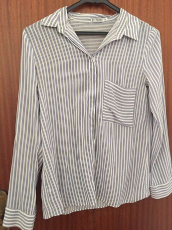 Camisa riscas azul Pull and Bear Tam M