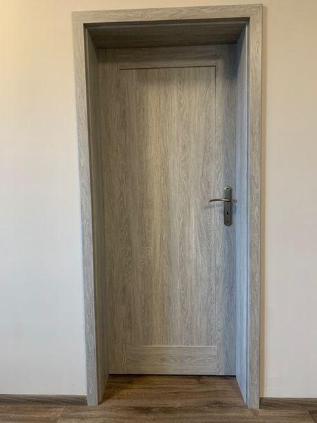 Drzwi wewnętrzne, łazienkowe, solidne, bardzo zadbane