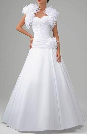 Классическое свадебное платье с болеро