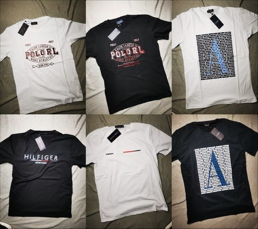 Koszulka męska Tommy Hilfiger Ralph Lauren Armani Shirt Premium