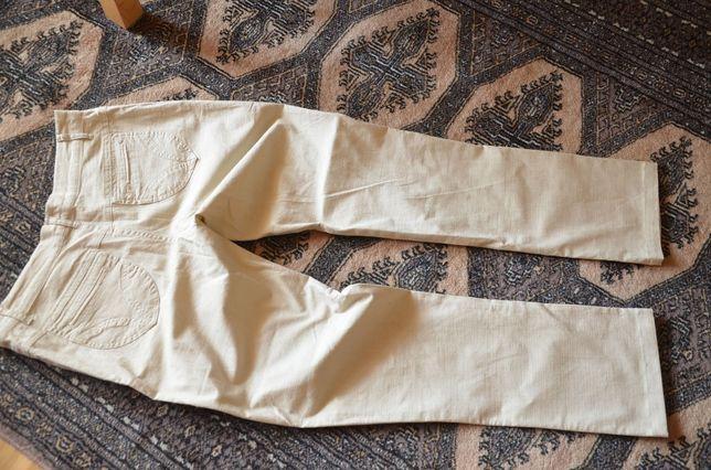 Spodnie beżowe letnie 40 42 L Nelys damskie