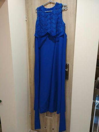 Długa sukienka wieczorowa - ciążowa, rozmiar 38