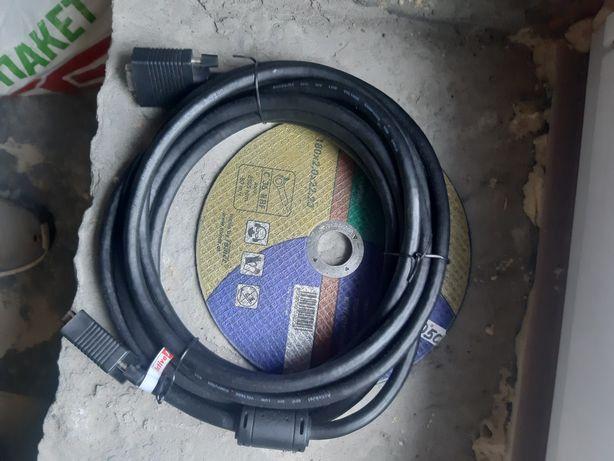 Кабель VGA Vinga подовжувач 5м VGA-VGA M/F (вилка/розетка)