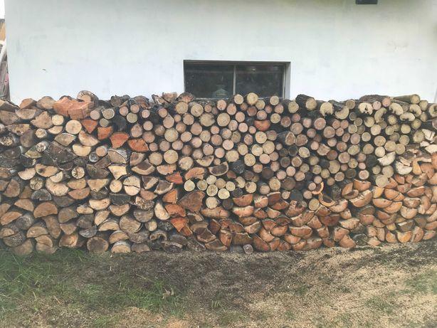 Drewno na opał kominkowe dąb akacja brzoza olcha sosna