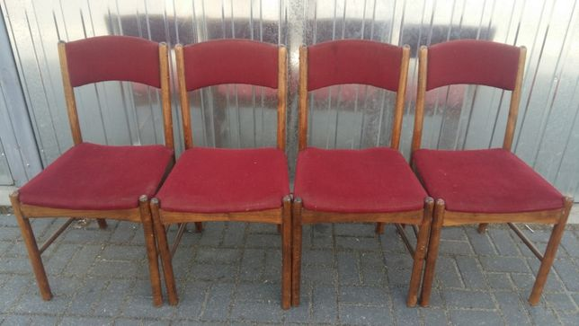 4 krzesła ZPM Radomsko A -7437 - PRL - lata 60