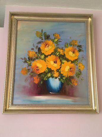 Żółte kwiaty przepiękny obraz
