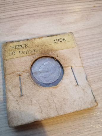 Монета Греция 50 Лепт 1966 года оригинал не копия!