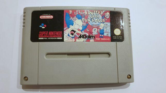 Gra SNES The Simpsons Krusty Super Fun House Super Nintendo