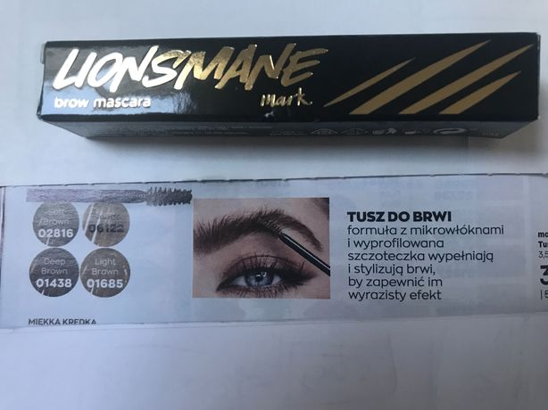 Tusz do brwi soft Brown avon