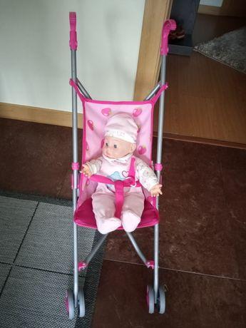 Carrinho criança e boneca