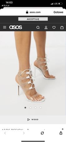 Sandałki na szpilce asos