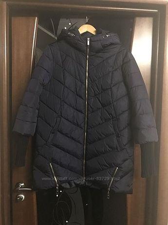 Зимняя куртка пуховик Lusskiri синего цвета размер 50 XXL