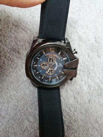 Nowy męski zegarek czarny pasek